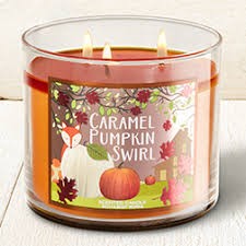 Bath And Body Works Pumpkin Apple Candle by Caramel Pumpkin Swirl 3 Wick Candle Home Fragrance 1037181