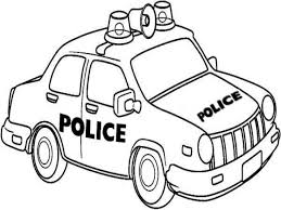Cartoon Police Car Coloring Pages