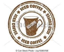Iced Coffee Stamp Grunge Rubber With Text Coffeevector