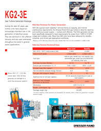 Siemens Dresser Rand Houston by Kg2 3e Gas Turbine Generator Package Flier Dresser Rand Pdf