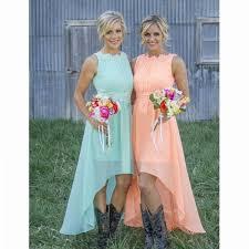Mint Bridesmaid DressHigh Low Dresses Orange Cheap