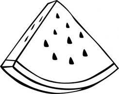 Watermelon Slice Clipart Black And White Clip Art Library within Watermelon Clipart Black And White