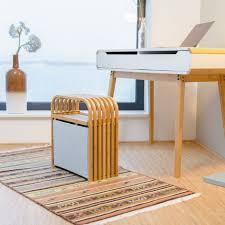 hocker mit aufbewahrung design sitzhocker mit stauraum schmaler bambus holzhocker für die garderobe natur