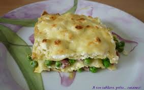 cuisiner des petit pois frais lasagnes petits pois lardons chèvre frais a vos tabliers