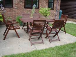 Wooden Garden Furniture - Folding Table And 6 Folding Chairs (2 Semi  Reclining) With Cushions | In Ipswich, Suffolk | Gumtree Wooden Folding Chairs For Sale South Wood Chair The Chiavari Company Fruitwood With Tan Seat Hot Item Gold Color Napoleon Hard Cushion Diy Oleander Palm Askholmen Table4 Folding Chairs Outdoor Amazoncom Ycsd Simple Soft Cloth 3d Model For Bamboo Chair Estate Fullback By Royal Teak Collection National Public Seating 3200 Series Premium 2 In Vinyl Upholstered Double Hinge Black Pack Of 2x Sw19 Merton 1000 Sale Shpock