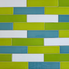 2x8 Subway Tile White by Kiln Ceramic 2x8 Subway Tile Chartreuse Green Multicolor