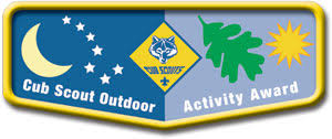 Cub Scout Committee Chair Patch Placement by Cub Scout Outdoor Activity Award