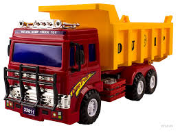 Amazon.com: WolVol Big Dump Truck Toy For Kids With Friction Power ...