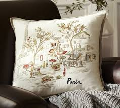 paris embroidered pillow cover pottery barn