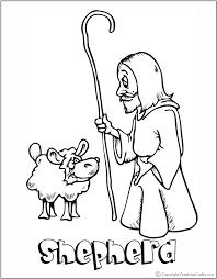 Christmas Shepherds Coloring Page Bible Printable