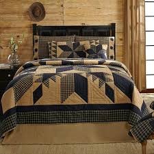 Rustic Luxury Bedding Dakota Star Primitive Country Patchwork King Quilt Quilts Bedspreads High End
