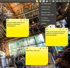 comment mettre des post it sur le bureau windows 7 indicator stickynotes des penses bêtes sur le bureau ubuntu