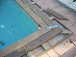 margelle piscine en bois margelle de piscine en bois artisan charpente menuiserie