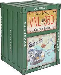 ts ideen kommode schrank nachttisch regal schlafzimmer container in grün industrie design shabby metall optik vintage 35 x 50 cm