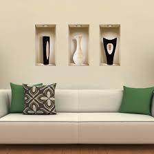 3D Home Art Vinyl Wall Stickers Decals Mural Living Room Decor 3 Set Black White