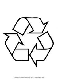 Recycling Logo Colouring Page