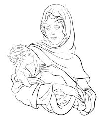 Tattoo Of Virgin Mary Holding Baby Jesus