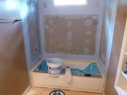 tile backer board installation 60 bathtub surround walls for
