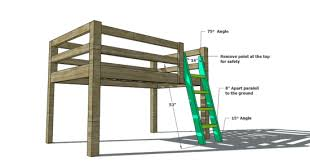 free woodworking plans to build a full size low loft bunk boy
