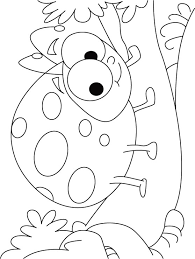 Happy Bladybug Coloring Pages B