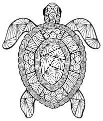 Tortue Coloriages DAnimaux 100 Mandalas Zen Antistress