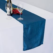 LinenTablecloth: Satin Folding Chair Cover Navy Blue