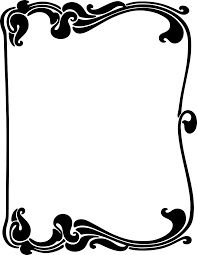 Free Halloween Page Border Clip Art by Art Nouveau Border Clipart Aaaaaaaah Art Nouveau Art Deco