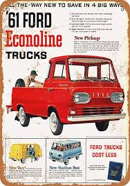 Amazon.com: Wall-Color 7 X 10 METAL SIGN - 1961 Ford Econoline ... Aerocaps For Pickup Trucks 5 Older Trucks With Good Gas Mileage Autobytelcom 2018 Ford F150 Diesel Review How Does 850 Miles On A Single Tank Specs Released 30 Mpg 250 Hp 440 Lbft Page 4 Tacoma World Power Stroke Returns Highway Its Really 2019 Wards 10 Best Engines 30l Dohc Turbodiesel V6 Mileti Industries 2017 Gmc Canyon Denali First Test Small Truck Toyota Rav4 Hybrid Solid Roomy Pformer Gets 2016 Chevrolet Colorado To Get Over