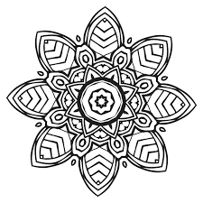 Coloring Book For Me Mandala Page