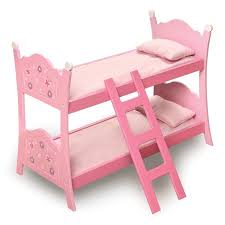 Badger Basket Blossoms and Butterflies Doll Bunk Bed with Ladder