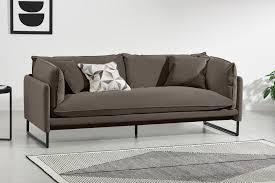 malini 3 sitzer sofa samt in hellbraun