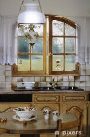 fototapete küche mit blick auf einen golf