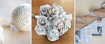 10 Paper Craft Ideas With Newspaper