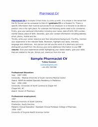 Hospital Pharmacist Curriculum Vitae New Retail Pharmacy Technicianob Description For Resume Example Tech And