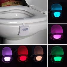 smart badezimmer toilette nachtlicht led bewegung aktiviert ein aus sitz sensor le 8 farbe led toilette le