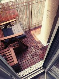 Runnen Floor Decking Outdoor Brown Stained by I U0027ve Redesigned My Balcony Balconies Nice Place And Outdoor Spaces