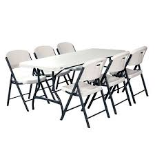 lifetime combo one 6 commercial grade folding table and 6 folding