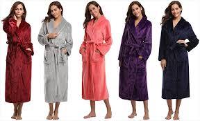 robe de chambre homme chaude aibrou peignoir femme velours robe de chambre polaire chaud