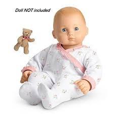 Amazoncom American Girl Bitty Babys Sleeper And Bear Set Includes
