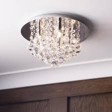 litecraft g9 galaxy flush ceiling light chrome contemporary