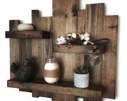 Rustic Wall Shelf Reclaimed Wood Pallet Floating
