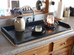 Primitive Kitchen Countertop Ideas by Primitive Kitchen Tray Black Sink Cover By Rusticprairiecottage