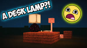 Minecraft How To Make A Desk Lamp
