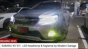 subaru xv sti with led in headlight and foglight by moderngarage