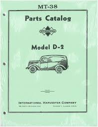 99 Vintage International Harvester Truck Parts Manual D2 19371940 Old