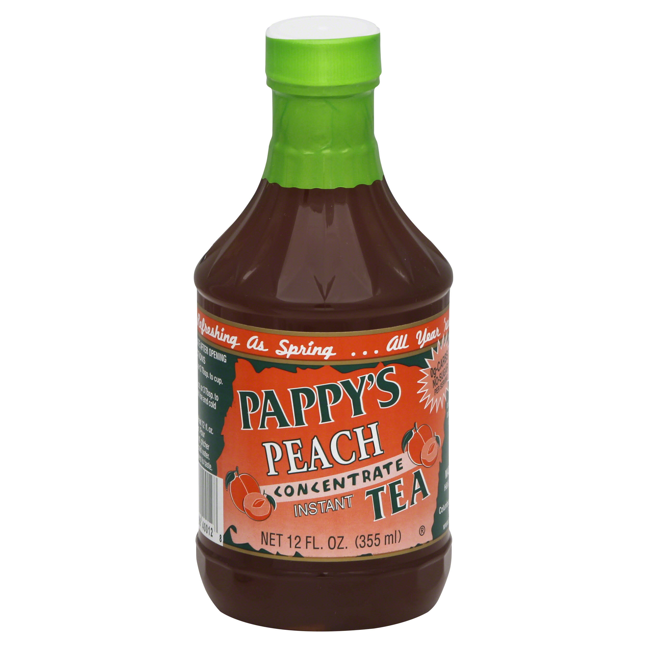 Pappys Peach and Raspberry Tea Concentrate - 12oz