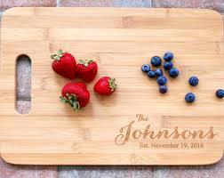 New Home Housewarming Gift Personalized Cutting Board Wedding For Couple Custom Name