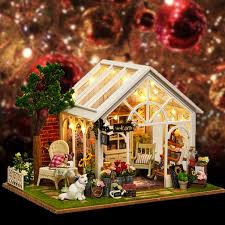 DIY Miniature Kit Wooden Toy Model Doll House Modern House Kid Gift
