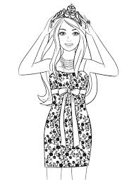 Coloring Pages Barbie Page For Christmas The