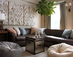 like the lighter pillow on the leather sectional sean michael